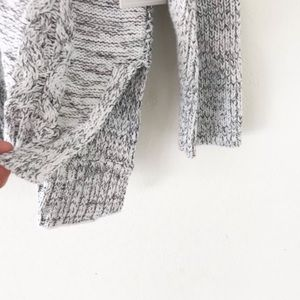 1. State Sweaters - cozy gray + white | soft cableknit sweater